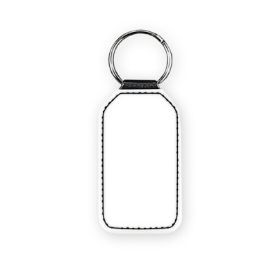 Faux Customized Leather Photo Keyring